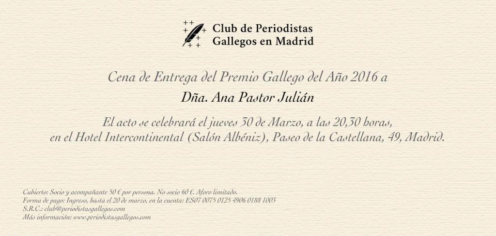 Gallego del Año 2016