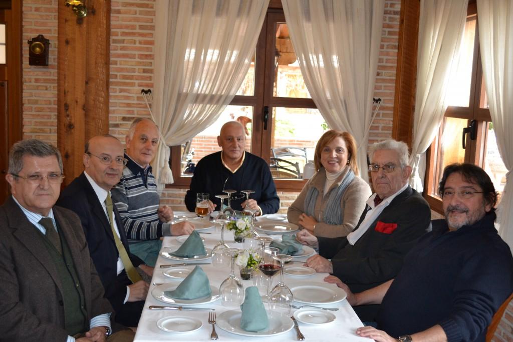 Grupo antes de comer con Celso Collazo